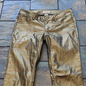 Mudd brand Gold Skinny Leggings Juniors Size 5